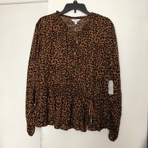 Time and Tru xlarge 16-18 leopard print blouse